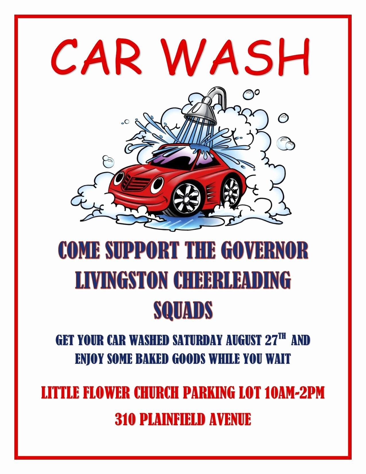 Car Wash Fundraiser Flyers Inspirational Gov Livingston Cheerleaders Hold Car Wash and Bake Sale