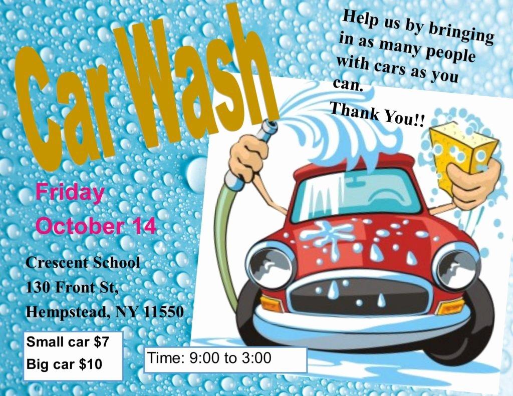Car Wash Fundraiser Flyers New Car Wash Fundraiser – Crescent School