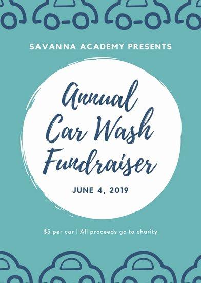 Car Wash Fundraiser Flyers New Customize 54 Fundraiser Flyer Templates Online Canva