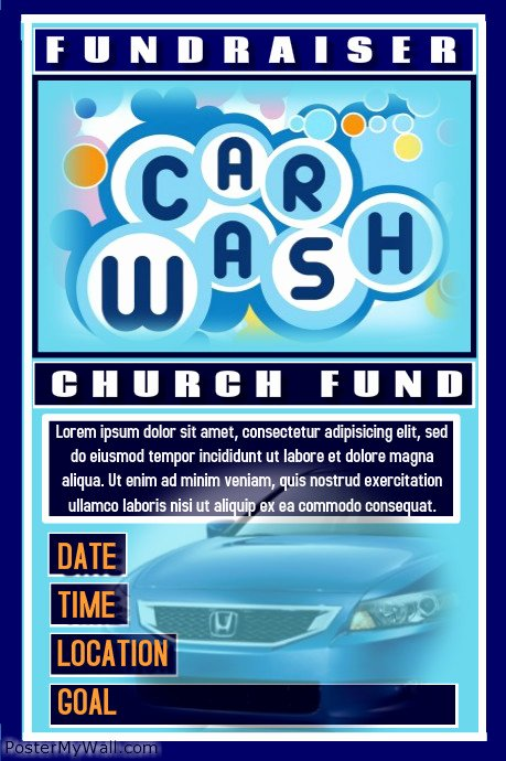 Car Wash Fundraiser Flyers Unique Postermywall