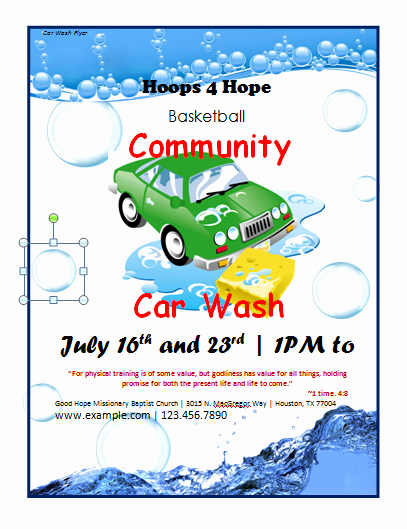 Car Wash Fundraiser Template Awesome Flyer Templates Archives Microsoft Word Templates