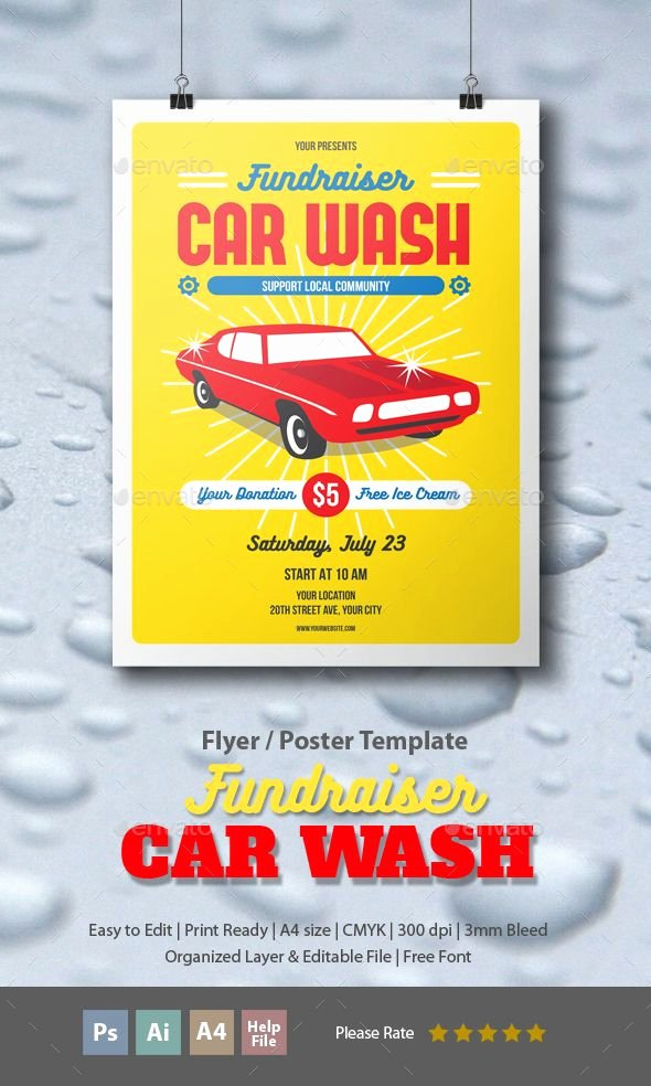 Car Wash Fundraiser Template Awesome Fundraiser Car Wash