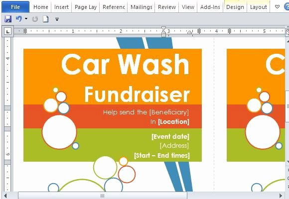 Car Wash Fundraiser Template Beautiful Door Hanger Flyers Template for Word