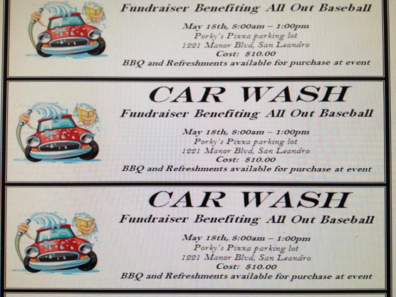 Car Wash Fundraiser Template Beautiful Sat 5 18 All Out Baseball organization Car Wash