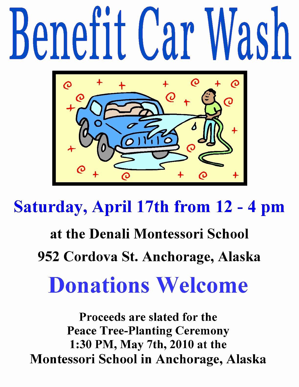 Car Wash Fundraiser Template Elegant 18 Of Car Wash Fundraiser Template Pintres