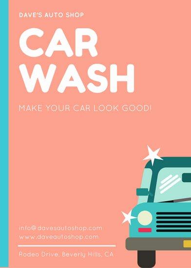 Car Wash Fundraiser Template Elegant Blue Car Doodle Car Wash Fundraiser Flyer Templates by Canva