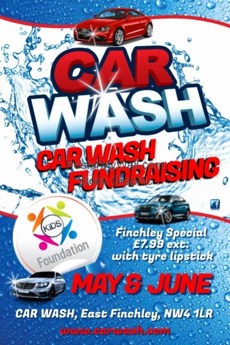 Car Wash Fundraiser Template Elegant Car Wash Flyer Template