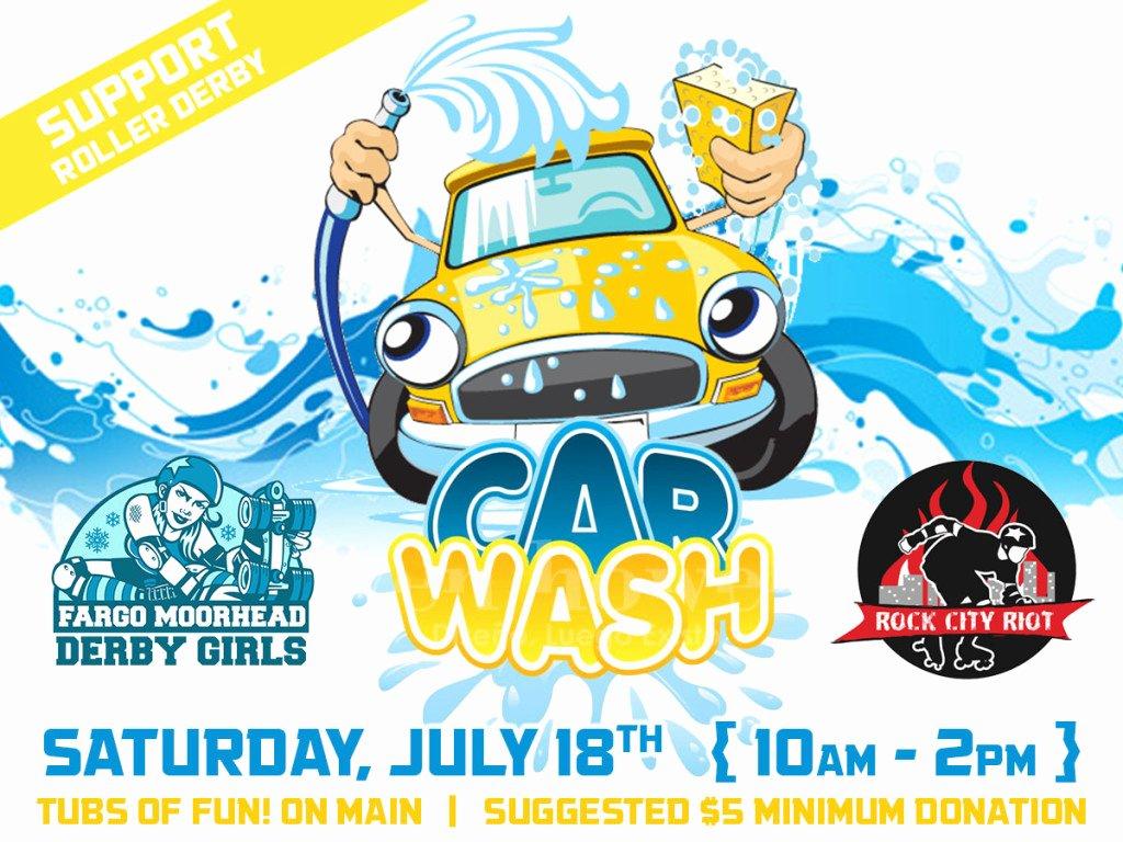 Car Wash Fundraiser Template Lovely Roller Derby Car Wash — Fargo Moorhead Derby Girls