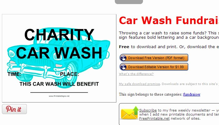 Car Wash Fundraiser Template Unique 5 Free Fundraiser Flyer Templates
