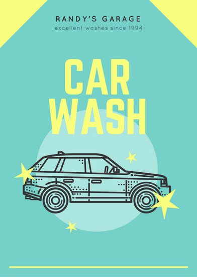 Car Wash Fundraiser Template Unique Yellow Carwash Vintage Vehicle Promo Flyer Templates by