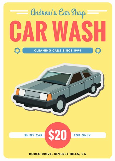 Car Wash Ticket Template Awesome Customize 77 Car Wash Flyer Templates Online Canva