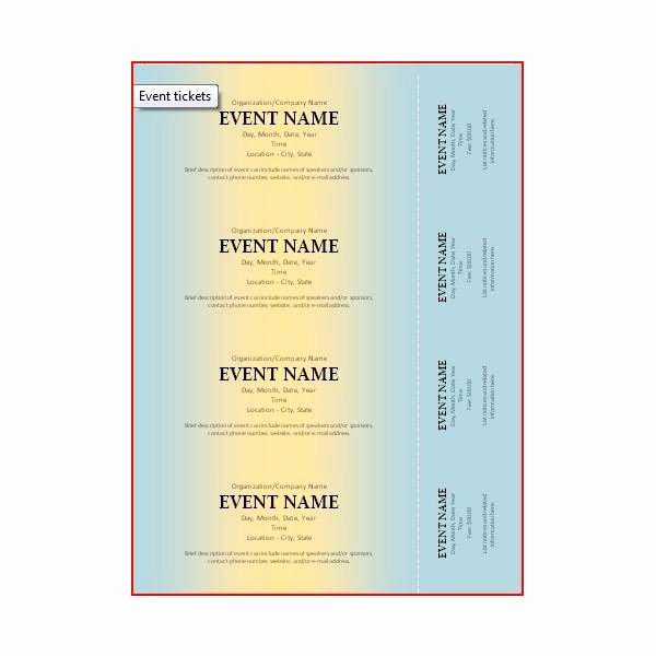 Car Wash Ticket Template Beautiful the Best event Ticket Template sources