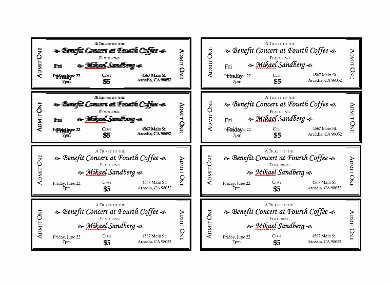 Car Wash Ticket Template Fresh Editable Ticket Template Free Prom Printable Admit E