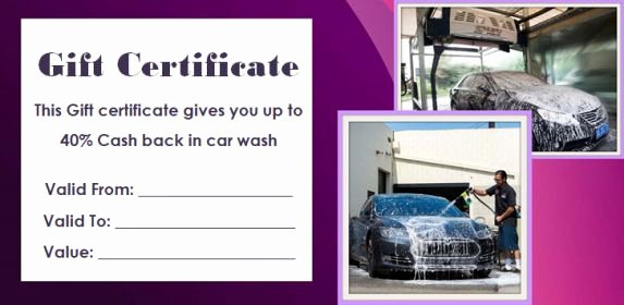 Car Wash Ticket Template Luxury 16 Personalized Auto Detailing Gift Certificate Templates