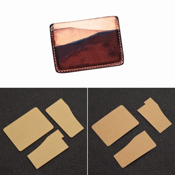 Card Holder Template Awesome Diy Card Holder Template Leather Craft Wallet Mould tool
