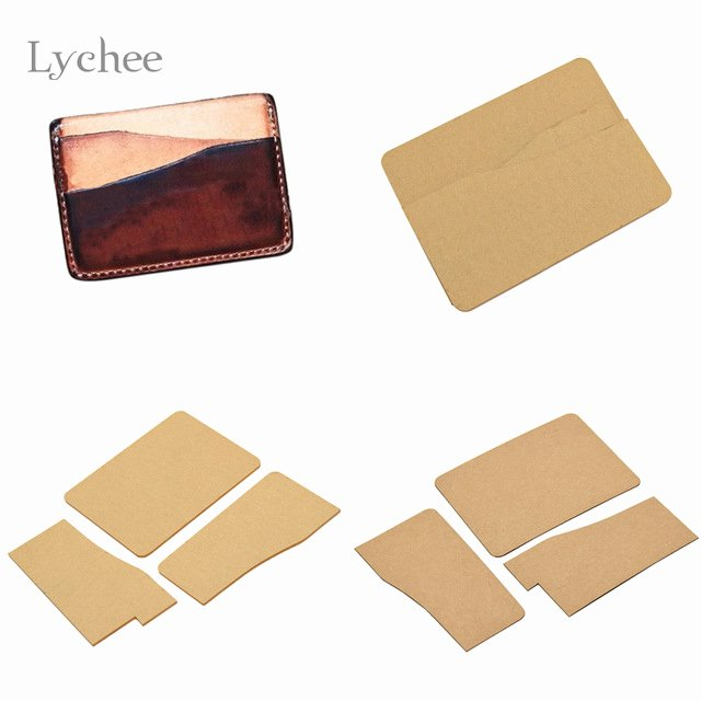 Card Holder Template Beautiful Lychee 1pc Diy Acrylic Leather Business Card Holder