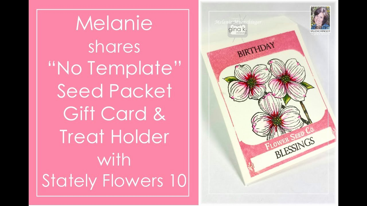 Card Holder Template Luxury How to Make A Seed Packet Gift Card Holder No Template