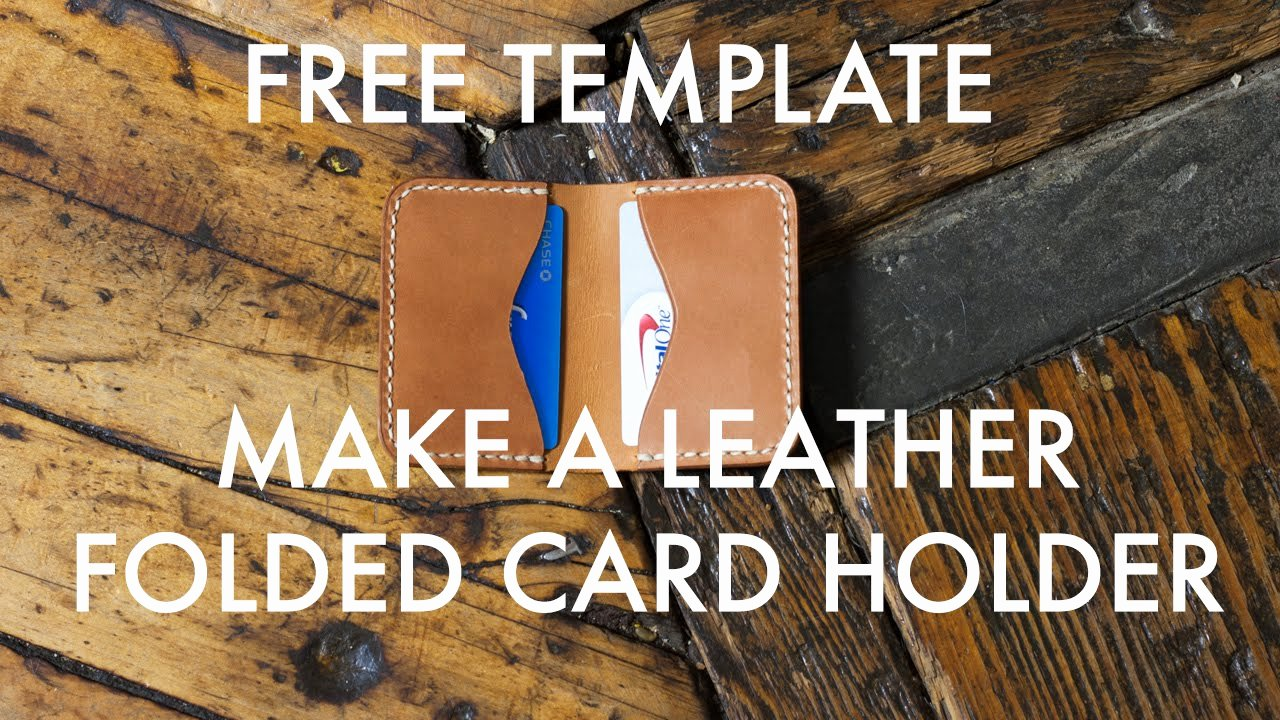 Card Holder Template New Make A Folded Leather Card Holder Free Pdf Template