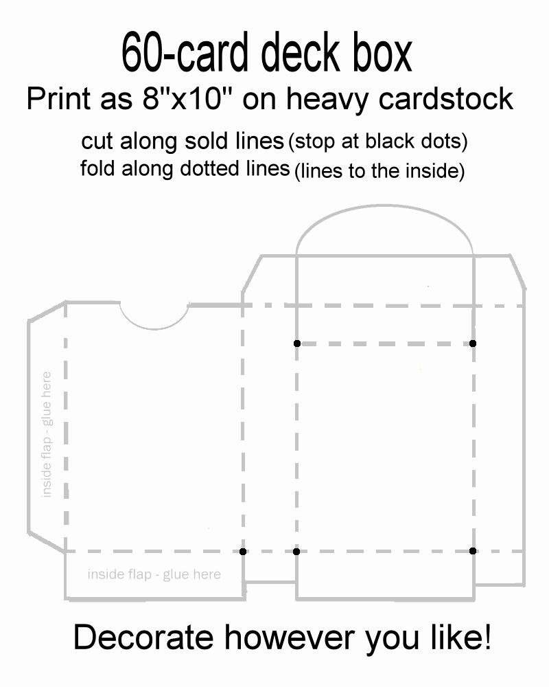 Cardboard Box Template Generator Inspirational 60 Card Deck Box Template for Magic Pokemon Yu Gi Oh