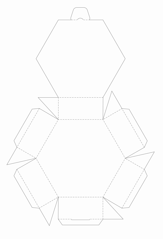 Cardboard Box Template Generator Inspirational origami Hexagon Via Paper Folding Playful Bookbinding and
