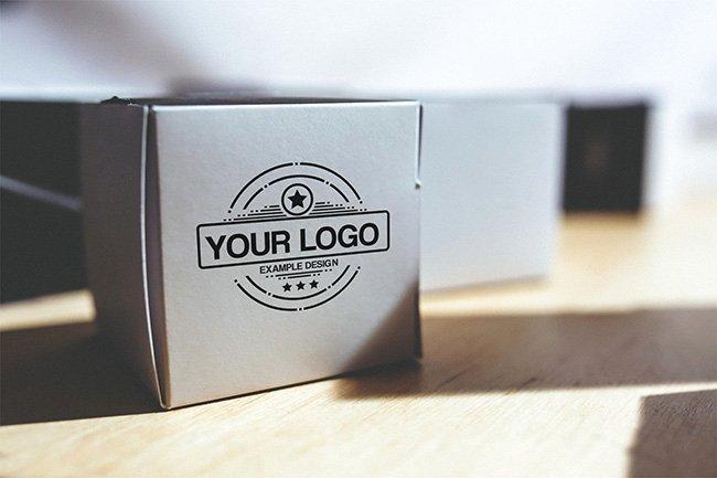 Cardboard Box Template Generator Unique Logo On Box Mockup Template Mediamodifier Free Line