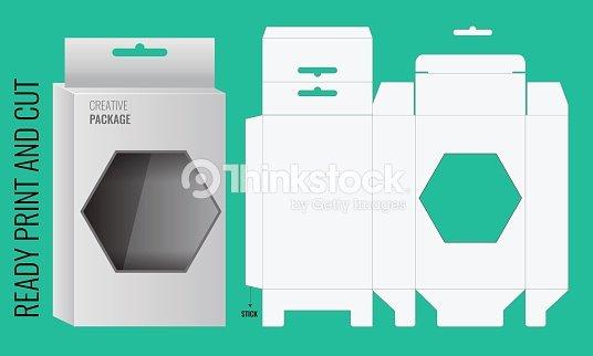 Cardboard Box Template Generator Unique Vector De Caja Con orificios Para Colgar útil Y Troquelado
