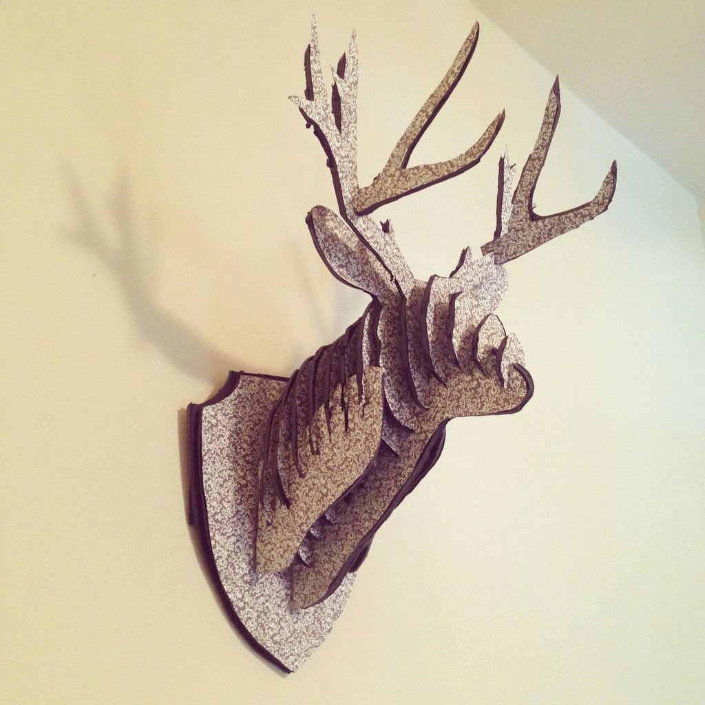 Cardboard Deer Head Template Awesome Image 3
