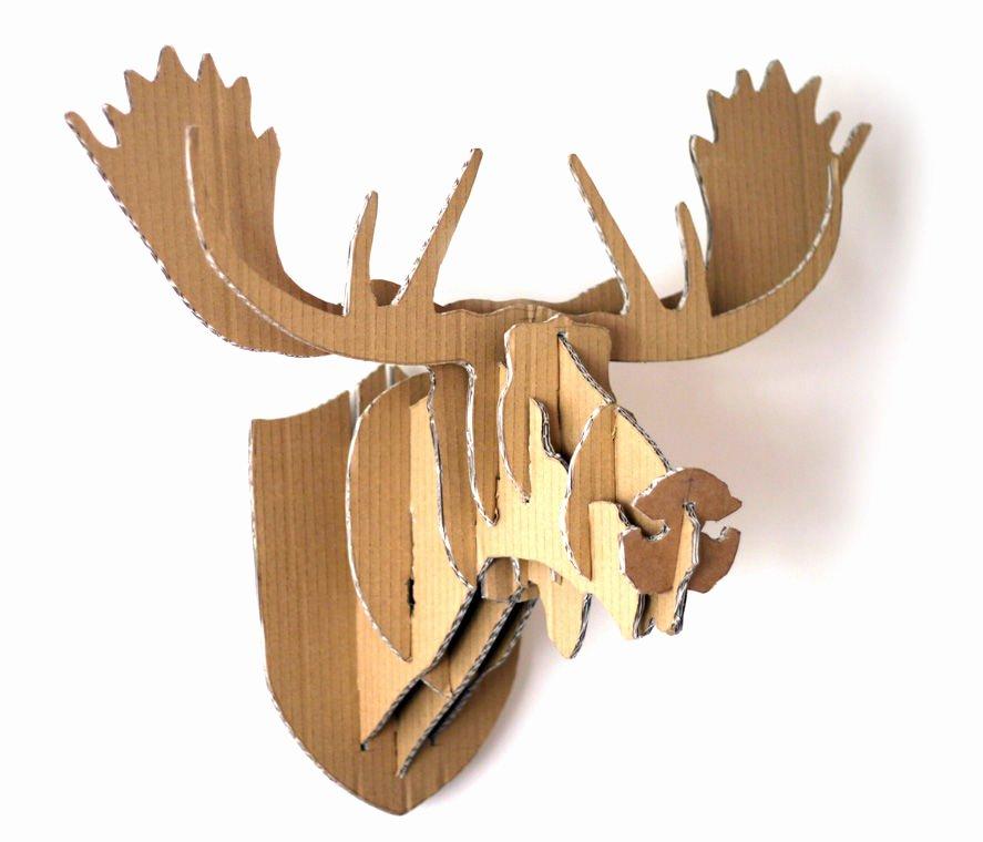 Cardboard Deer Head Template Best Of 16 Cardboard Deer Head Ideas