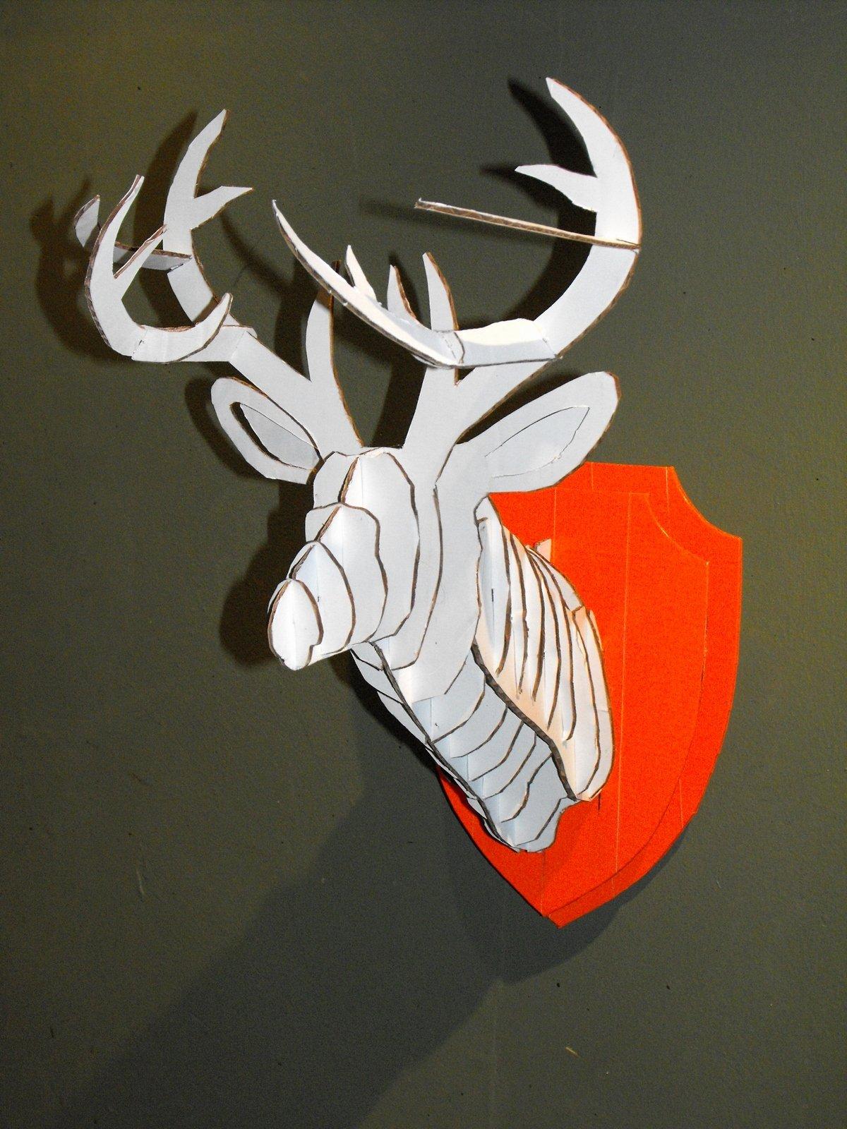 Cardboard Deer Head Template Best Of 3d Cardboard & Duct Tape Deer Head Trophy with Template