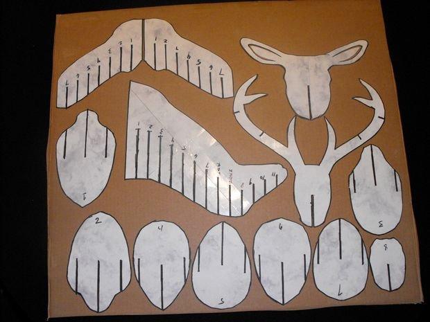 Cardboard Deer Head Template Elegant 3d Cardboard & Duct Tape Deer Head Trophy with Template 5