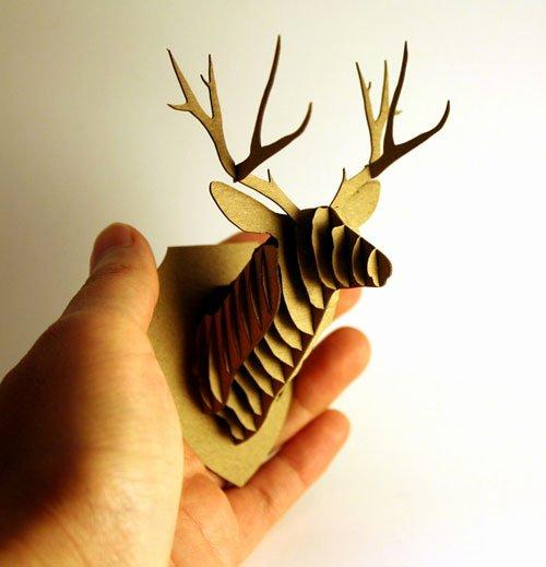 Cardboard Deer Head Template Lovely Cardboard Reindeer Head Template