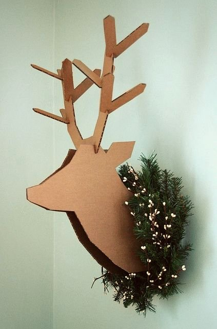 Cardboard Deer Head Template New Cardboard Deer Head I Will Make One Of these One Day