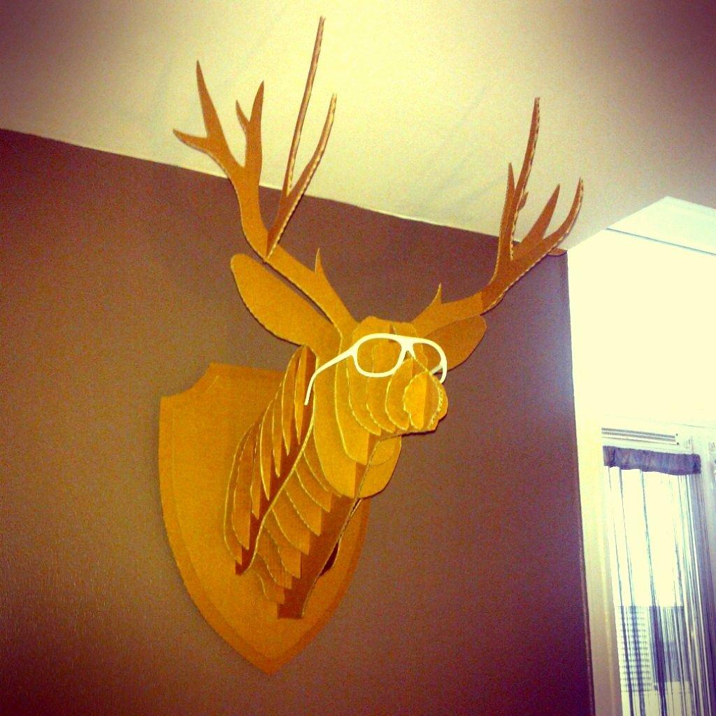 Cardboard Deer Head Template New My Deer2