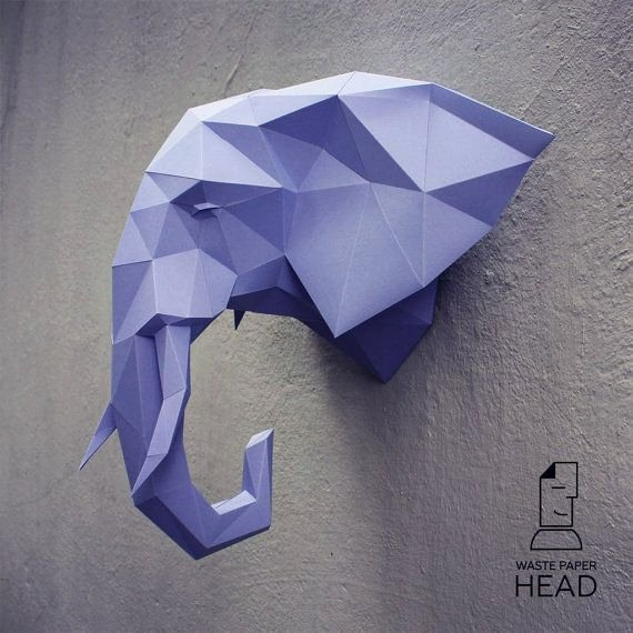 Cardboard Elephant Head Template Awesome You Can Make Your Own Elephant Head for Wall Decoration