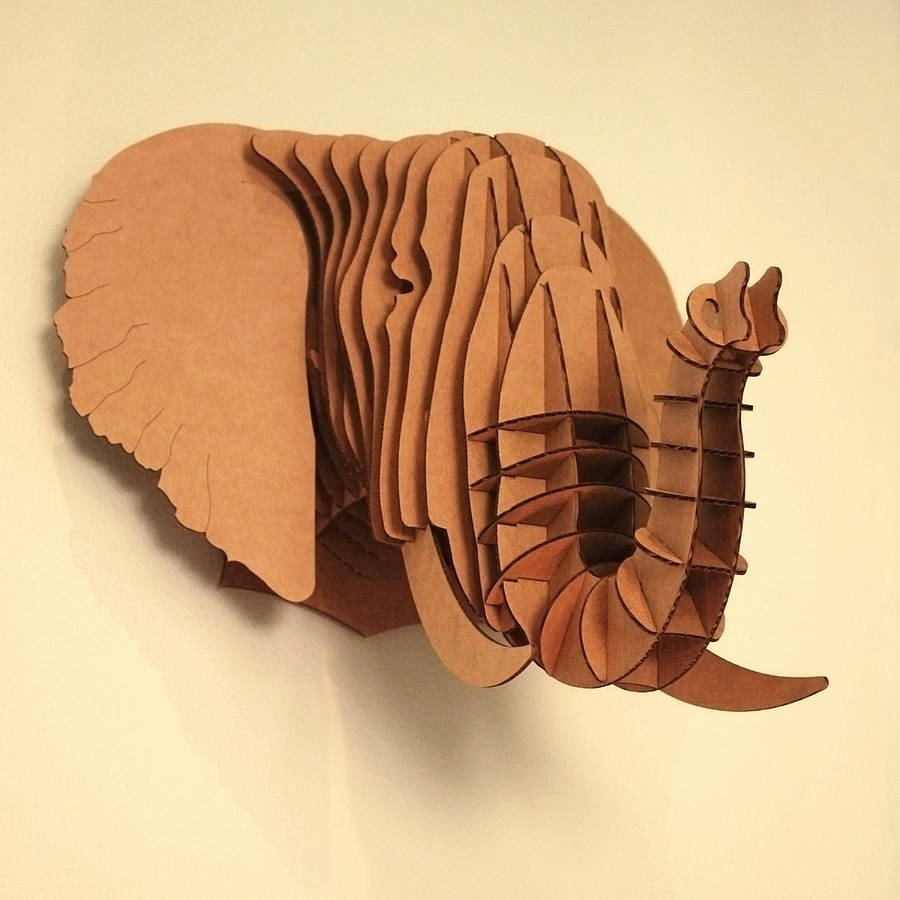Cardboard Elephant Head Template Beautiful How to Recycle Recycled Cardboard Wall Trophies