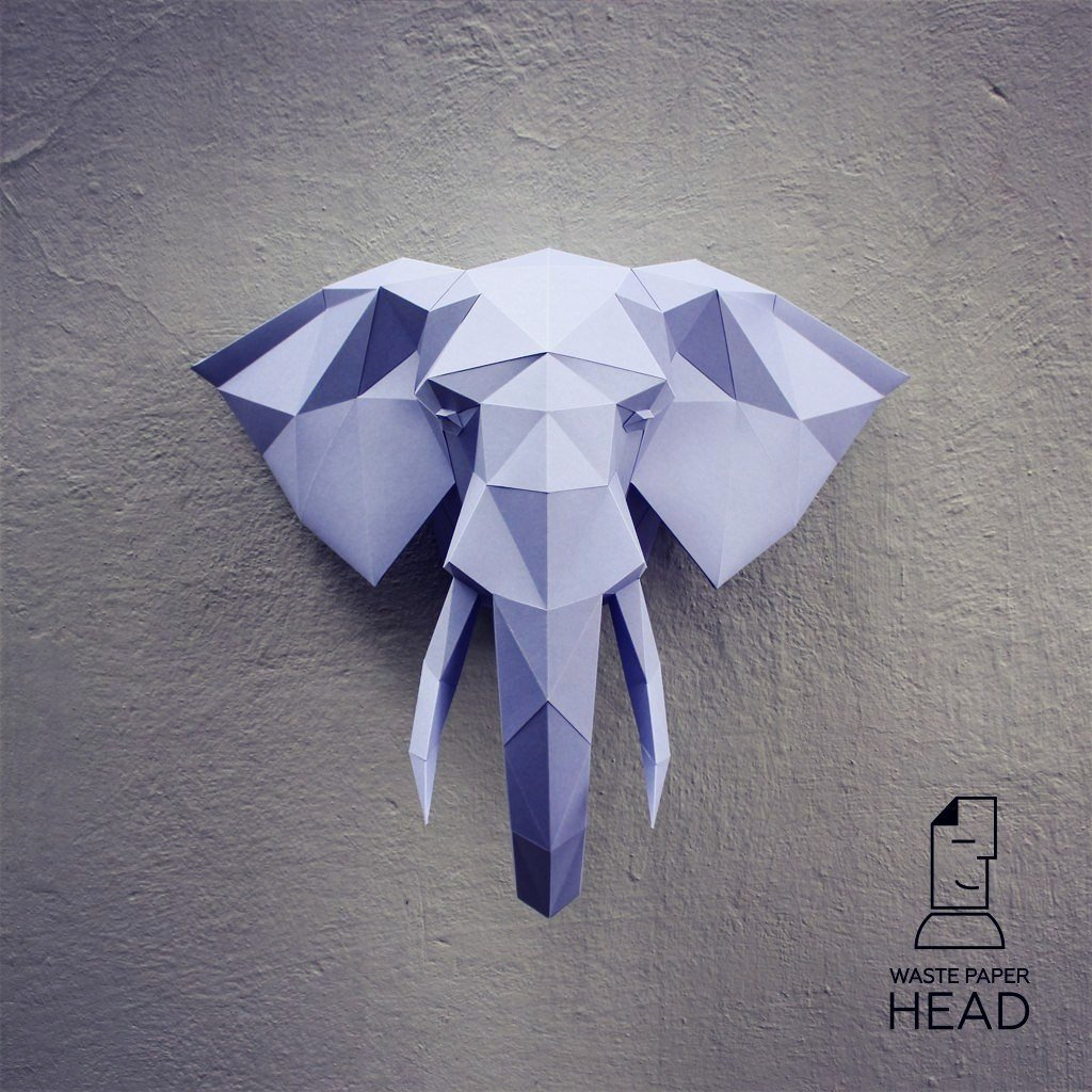 Cardboard Elephant Head Template Best Of Papercraft Elephant Head 2 Printable Diy Template