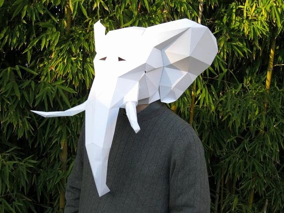 Cardboard Elephant Head Template Inspirational Make Your Own Elephant Mask From Paper Card Stock or
