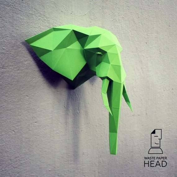 Cardboard Elephant Head Template Luxury Papercraft Elephant Head 1 Printable Diy Template