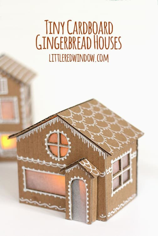 Cardboard Gingerbread House Awesome Tiny Cardboard Gingerbread Houses Little Red Window