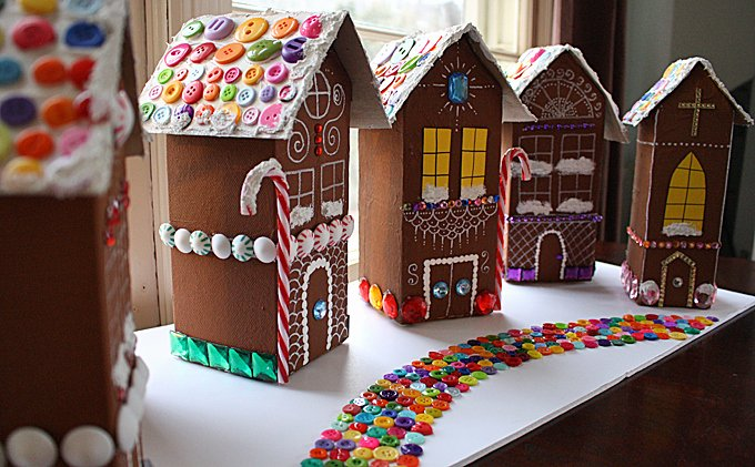 Cardboard Gingerbread House Beautiful Craftionary