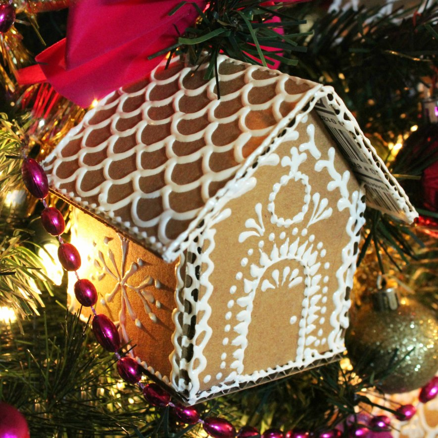 Cardboard Gingerbread House Elegant Mark Montano Cardboard Gingerbread House ornaments