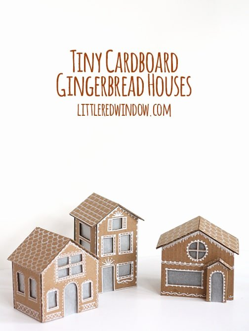 Cardboard Gingerbread House Lovely Tiny Cardboard Gingerbread Houses Little Red Window