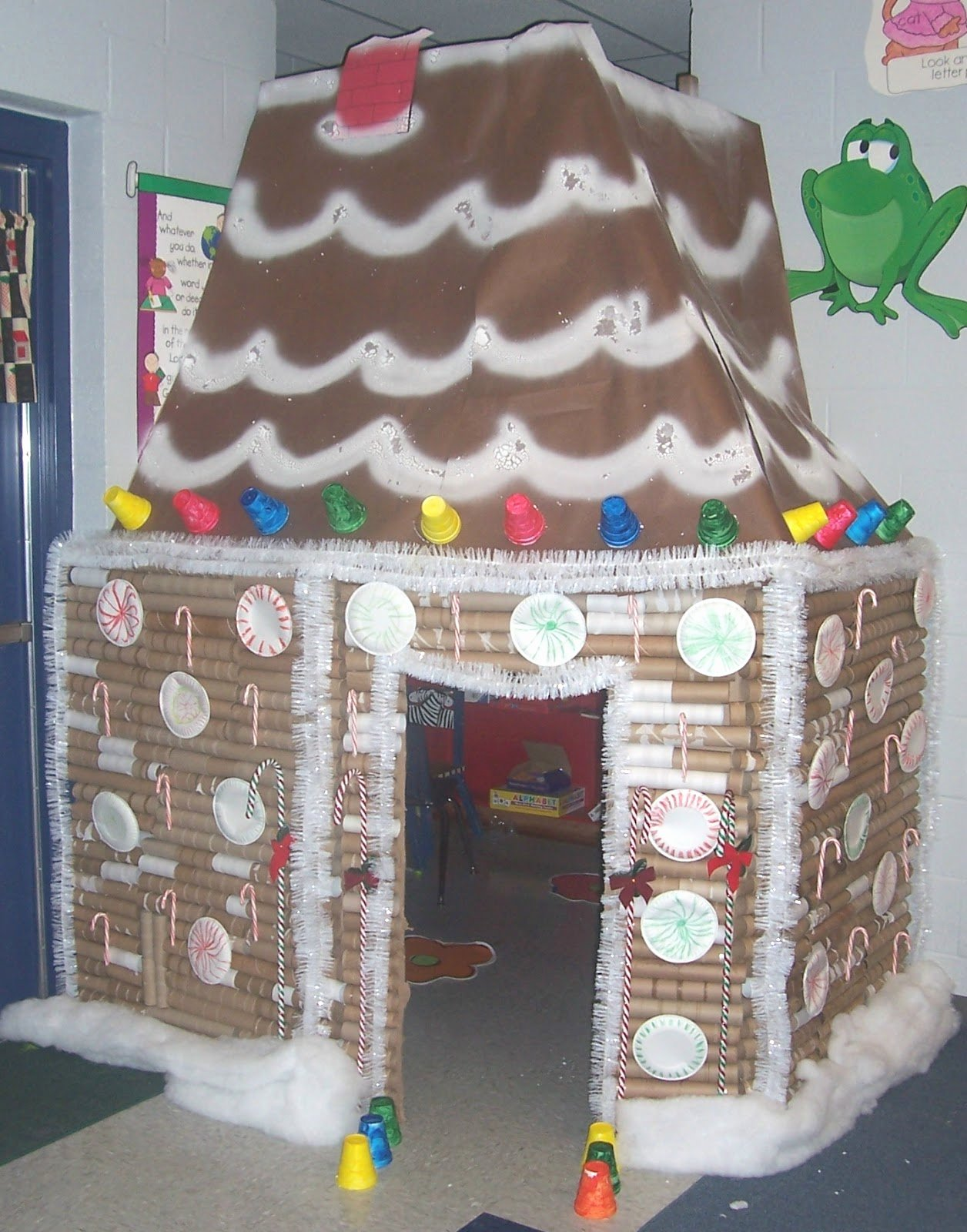 Cardboard Gingerbread House Luxury Mrs butterfield S First Grade Log Cabin