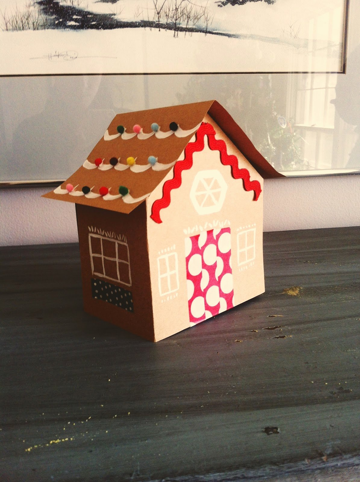 Cardboard Gingerbread House Luxury the Squirrel Next Door Cardboard Gingerbread House