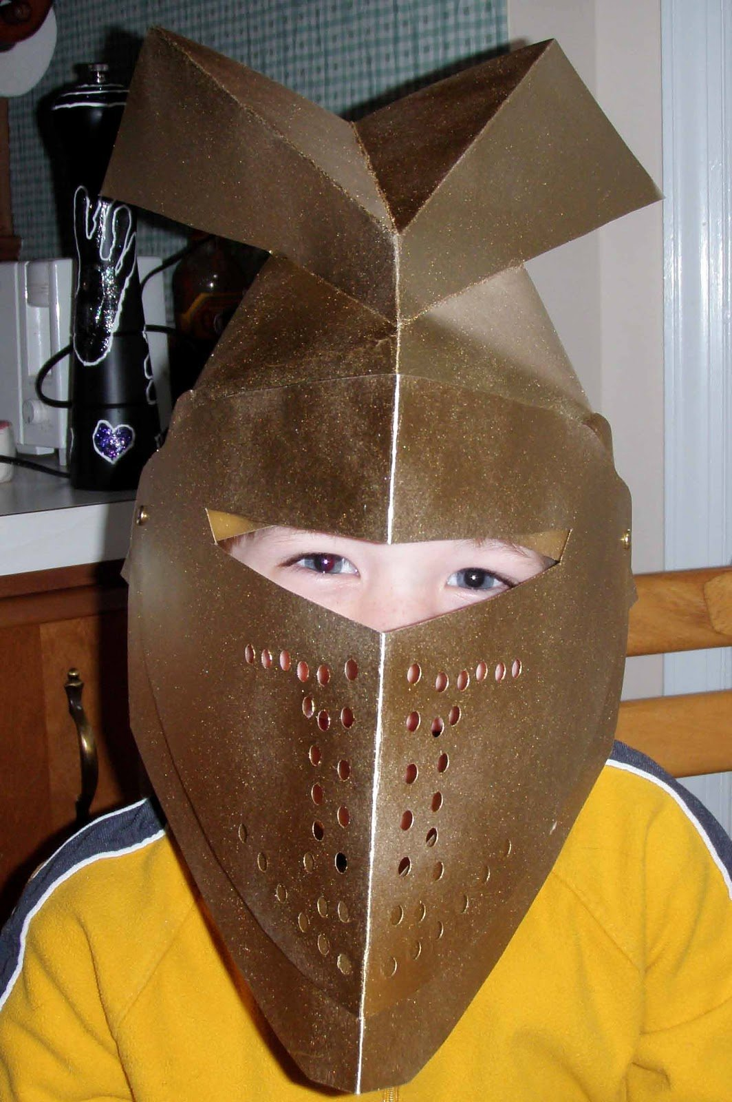 Cardboard Knight Helmet Template Awesome Crack Of Dawn Crafts Knight Party Create This Cool