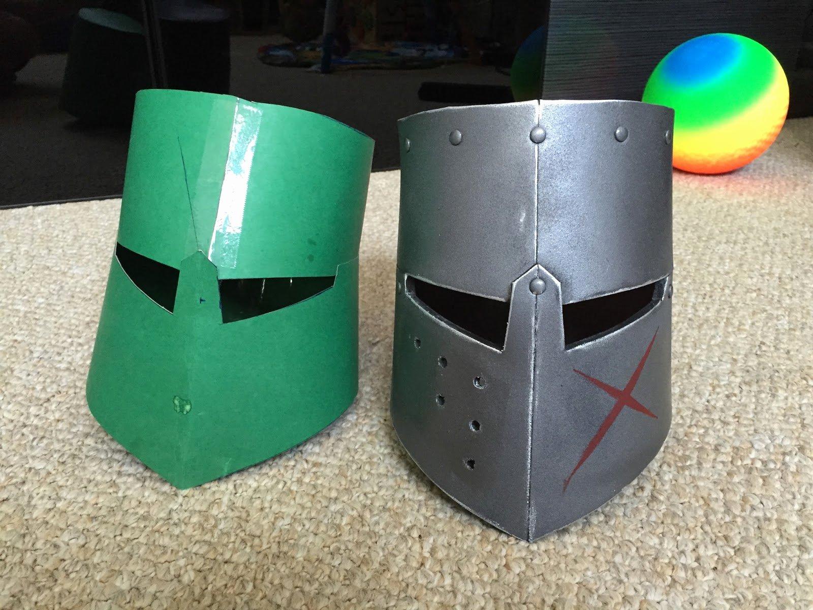 Cardboard Knight Helmet Template Awesome Parts and Krafts Cheap Kids Diy Knight Crusader Helmet