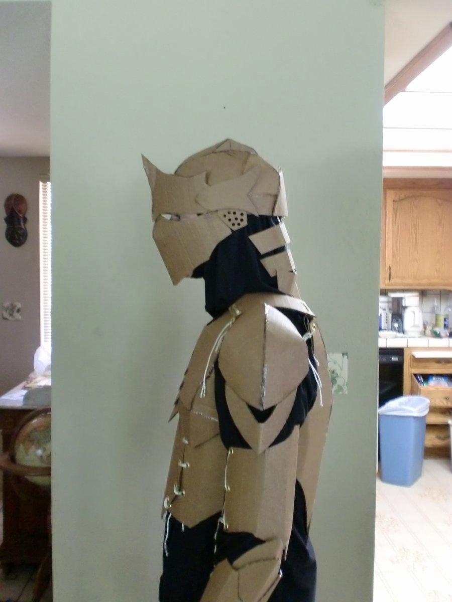Cardboard Knight Helmet Template Beautiful Cardboard Armor Proto Left by Ourobouros434 On Deviantart