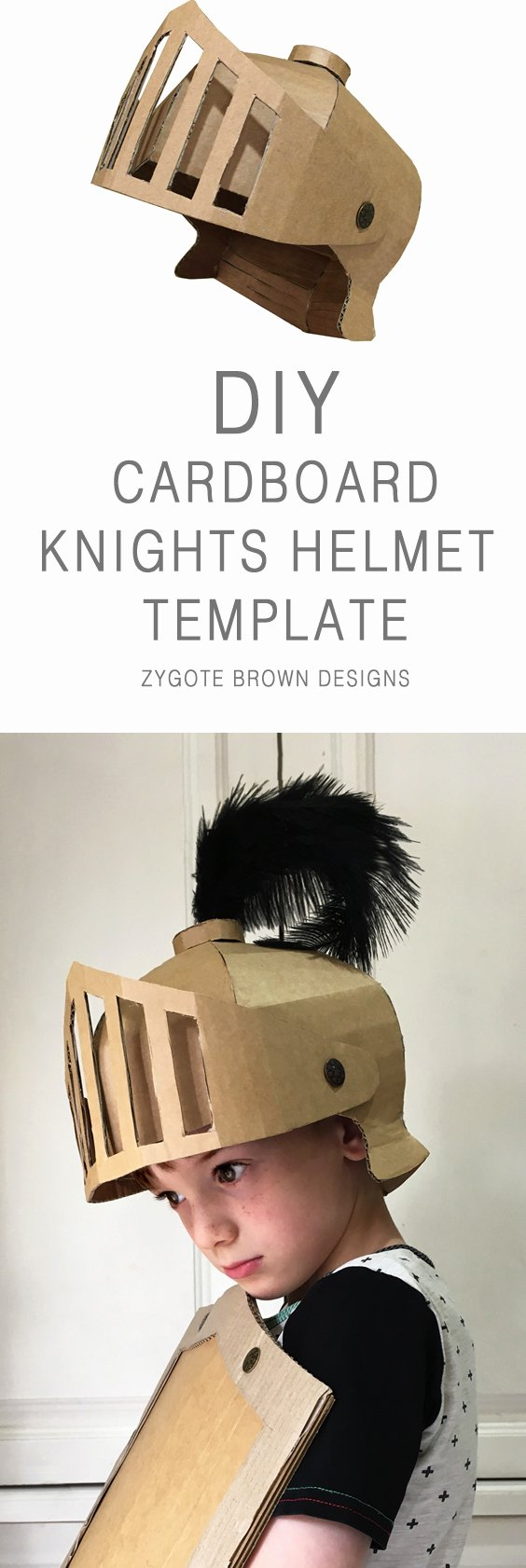 Cardboard Knight Helmet Template Beautiful Diy Cardboard Knights Helmet Template by Zygote Brown