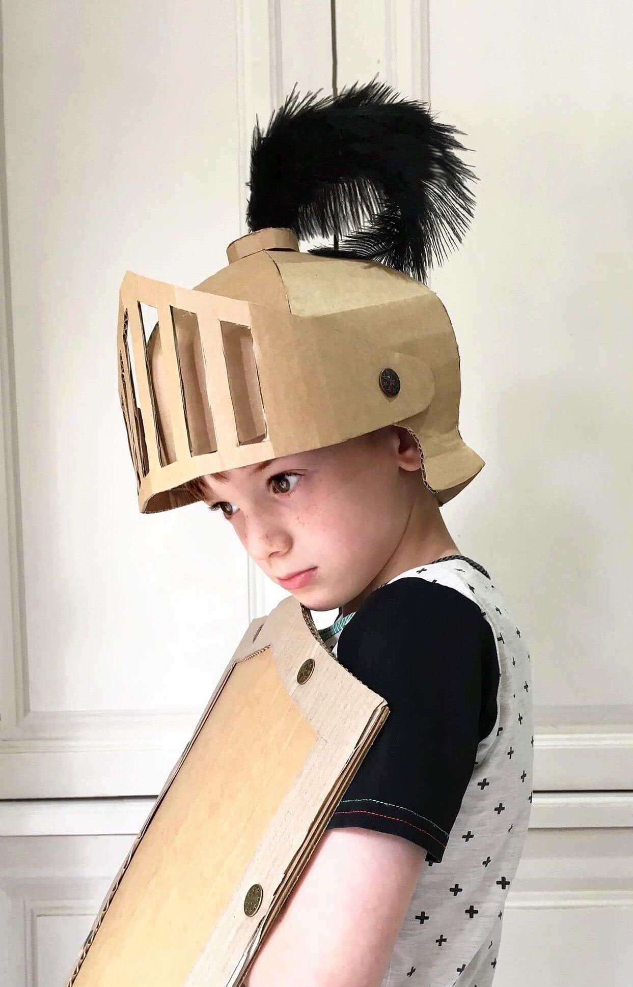 Cardboard Knight Helmet Template Fresh Fun Knights Helmet Template and Diy Costume Made Out Of