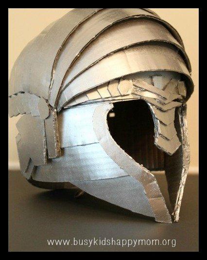 Cardboard Knight Helmet Template Inspirational Diy Knight Helmet or Warrior Helmet Busy Kids Happy Mom